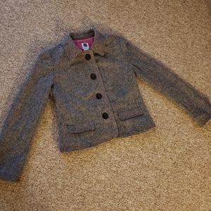 Gap black and pink wool blend tweed four button ja
